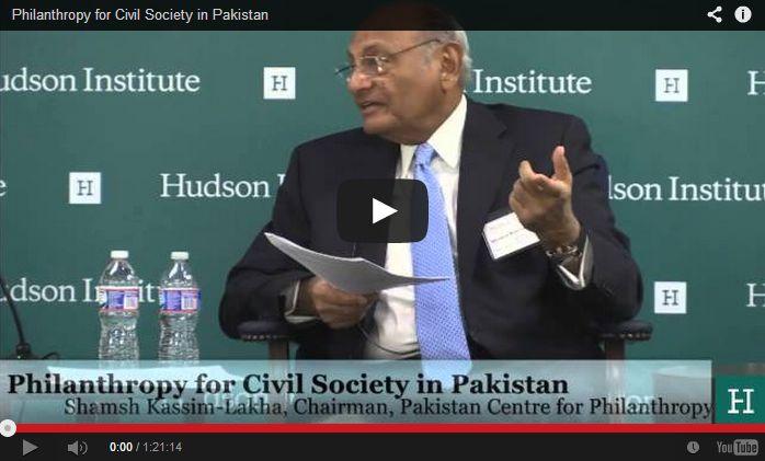 Dr. Shamsh Kassim-Lakha & Dr. Mirza Jahani: Philanthropy for Civil Society in Pakistan