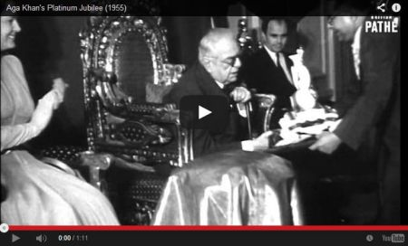 Historical Video: Aga Khan III's Platinum Jubilee (1955)