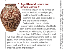 Aga Khan Museum & Ismaili Centre in Official Toronto Visitor Guide 2014