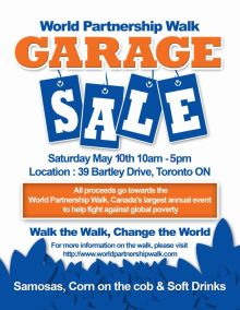 World Partnership Walk Garage Sale in Toronto (near HQ JK)