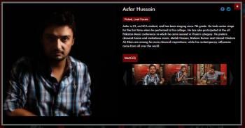 Asfar Hussain - Singer, Composer, Song Writer