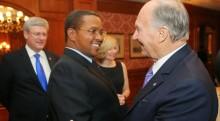 Tanzanian President Jakaya Kikwete meets Canadian Prime Minister & His Highness the Aga Khan