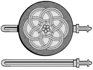 This is the Fatimid version of the sword Samsam which has been carved on the Gates of Old Cairo City, namely Bab-ul-Futuh. The Sword belonged to Ameerul Mo'mineen Ali ibn Abi Talib and after him with his progeny, the Imams of the Shias. Even as majority of the Muslims have imagined towards the double blade and the moon shape of the sword. The Fatimid Imam, Imam Moiz SA and under his permission, The Commander in Chief of the Fatimid Army, Badral Jamali AQ, built the Gates and got the image of the sword carved in the stone. This image shows the sword with the shield and the unsheathed sword without the shield.
