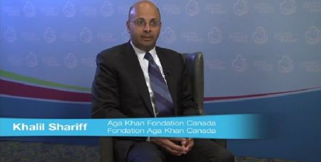 Khalil Shariff, CEO of the Aga Khan Foundation Canada, speaks at Every Woman Every Child Summit