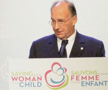Remarks made by His HIghness the Aga Khan at the Maternal, Newborn and Child Health Summit