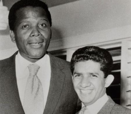 with American actor Sydney Poitier 2