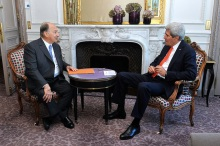 US Secretary Kerry Meets With His Highness the Aga Khan in Paris