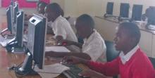 Aga Khan Academy Mombasa Students Teaching Computer at Mombasa Children's Home