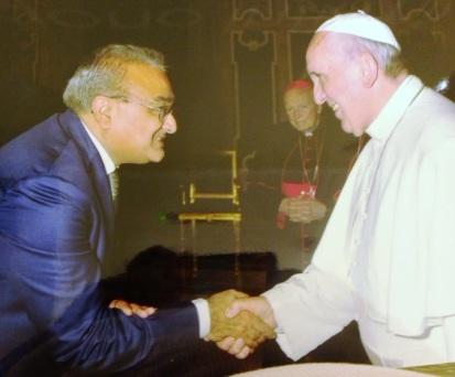 Aga Khan Foundation USA CEO Dr. Mirza Jahani meets Pope Francis