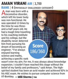 Aman Virani: IIT-JEE Advanced Entrance Exams