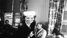Historical Video: 1957, Begum Aga Khan visits Veteran's hospital in New York