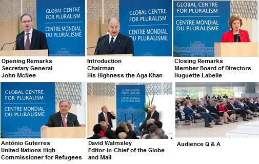 Global Centre for Pluralism 2014 Lecture: Speech/Videos/Photographs