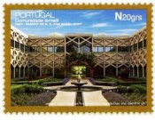 Commemorative stamp issued during the Golden Jubilee of  His Highness the Aga Khan. (Correios de Portugal )