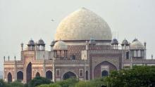 Hit by storm, repair on Humayun's Tomb dome begins