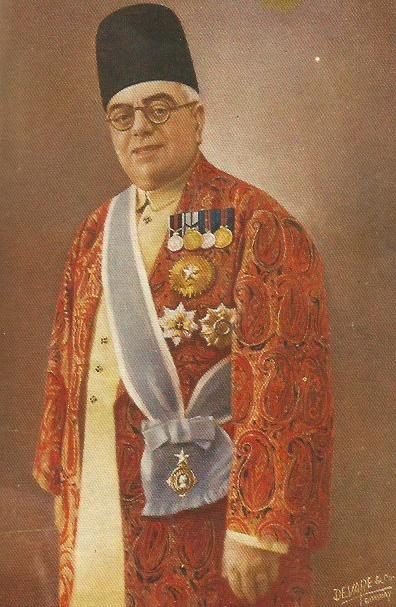 Aga Khan III in full regalia - colour