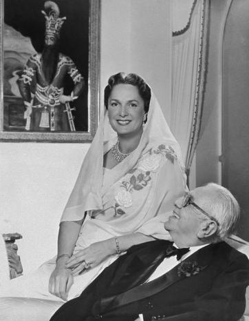 His Highness Aga Sir Sultan Muhammad Shah, Aga Khan III and Mata Salamat, Princess Yvonne Aga Khan - Admiration