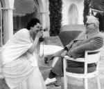 His Highness Aga Sir Sultan Muhammad Shah, Aga Khan III and Mata Salamat, Princess Yvonne Aga Khan - enjoying photoshoots