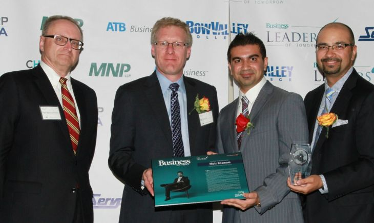 Moiz Bhamani, CEO, Prime Real Estate Group, win's Calgary's most respected 'Leader's of Tomorrow Award'