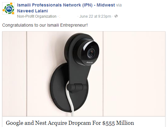 Aamir Virani's Dropcam acquired by Google