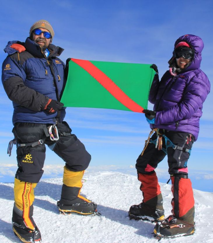 Mountaineers' duo climb the summit of Mt. Mckinley, USA