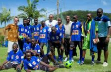 Team Tanzania with Gilberto Silva.