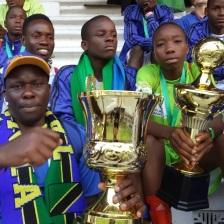 Team Tanzania enjoying the SCWC 2014 trophies.