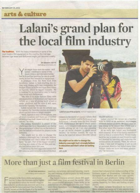 Filmmaker Arif Lalani