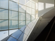 Aga Khan Museum Light Shadow Geometry 1 - Architectural Photography by Tom Arban