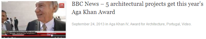 BBC News – 5 architectural projects get this year's Aga Khan Award