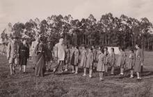 Historical Photograph: 1945, Nairobi, Kenya: His Highness the Aga Khan III at Scouts Rally