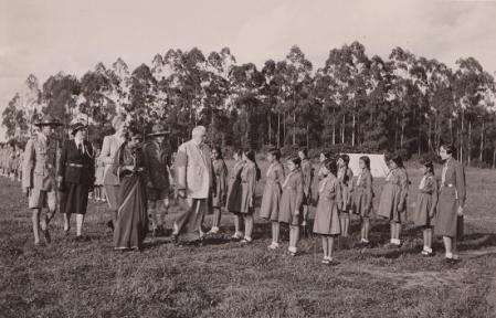 Historical Photograph: 1945, Nairobi, Kenya: His Highness the Aga Khan III at Scouts Rally