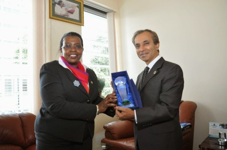 EALA Speaker, Aga Khan Development Network Representative in Uganda, H.E. Ambasador Mahmood Ahmed hold Talks