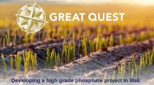 Vancouver's Great Quest announces AKDN as partner in Mali, Direct Application Phosphate Project