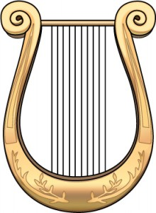 A Greek lyre