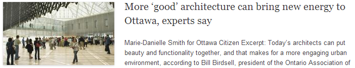 More 'good' architecture can bring new energy to Ottawa, experts say