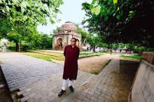 Ratish Nanda outside a Lodi-era tomb in Lado Sarai, New Delhi. Photo- Pradeep Gaur:Mint