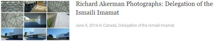 Richard Akerman Photographs: Delegation of the Ismaili Imamat