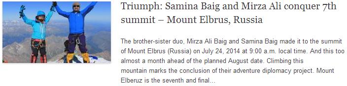 Triumph: Samina Baig and Mirza Ali conquer 7th summit – Mount Elbrus, Russia