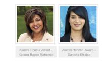 Karima Bapoo-Mohamed, Danisha Bhaloo, to receive Alumni awards from University of Alberta