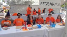 Volunteers at the registration desk