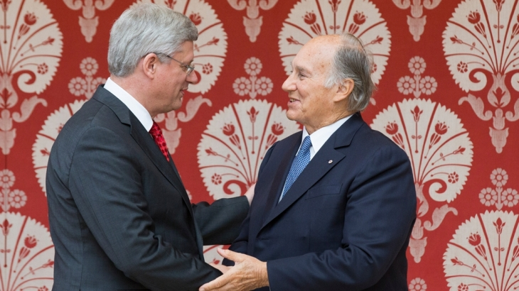 Canadian Prime Minister Stephen Harper joins His Highness the Aga Khan in the Opening Ceremony of the Ismaili Centre & the Aga Khan Museum