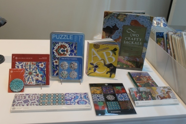 Children's books, magnets, stickers and coasters.