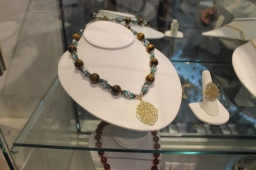 Jewelry from Jordan with semi-precious stones from Palestine. jewelry design inspired by AKM collection.