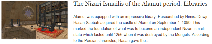 The Nizari Ismailis of the Alamut period: Libraries