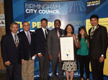Birmingham Partnership Walk 2014 - PW Team Honorary Citizen Medal