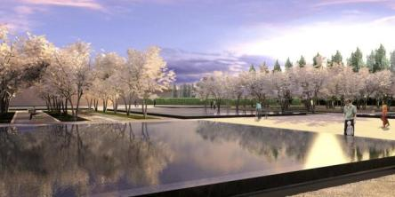 Constellations - Aga Khan Park, Toronto – Echoes of Paradise - the Garden and Flora in Islamic Art - Springtime at the Park of the Aga Khan Museum and Ismaili Centre, image courtesy of Imara Wynford Drive