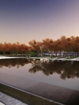 Constellations - Aga Khan Park, Toronto – Echoes of Paradise - the Garden and Flora in Islamic Art - Summertime at the Park of the Aga Khan Museum and Ismaili Centre, image courtesy of Imara Wynford Drive