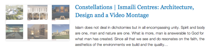 Constellations - Ismaili Centres - Architecture, Design and a Video Montage