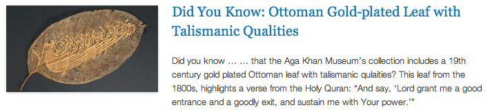 DYK - Nature Perspective - Ottoman Gold Leaf
