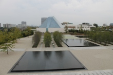 Ismaili Centre, Toronto from the Aga Khan Museum.